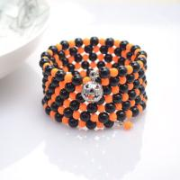 Make a Black and Orange Bracelet for Halloween
