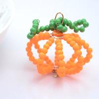 Make Beaded Pumpkin Ornament for Home Decoration on Halloween Day