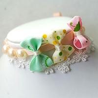 How to Make a Cute Bracelet with Ribbon Bow and Pearl