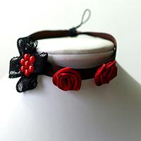 Bracelet Making Tutorial - Make Your Own Mysterious Red Rose Bracelet with Lace and Ribbon