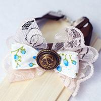 DIY a Cute Bracelet with Lace and Ribbon Bow