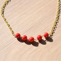 DIY Charming Necklace Tutorial - How to Make Red Necklace for Woman