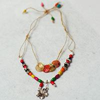 DIY a Colorful Wooden Bead Necklace with Hemp Rope