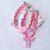 Easy Tutorial on How to Make a Pink Braided Bead Bracelet with Suede Cord