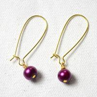 Instruction on Making Purple Pearl Earrings - 3 Easy Steps (with pictures)