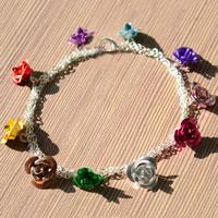 Easy Homemade Jewelry Ideas - How to Make a Charm Bracelet with Aluminum Beads