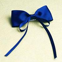 How to Make Simple Blue Hair Bows with Ribbon for Little Girls