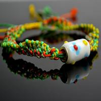 Step-by-step Bracelet Patterns on Making Best Friend Snake Knot Bracelets with 4 Colored Strings