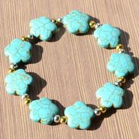 Jewelry Design Ideas - How to Make a Handmade Flowery Turquoise Bracelet