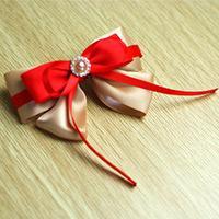 Comment Faire Une Jolie Épingle À Cheveux Noeud Papillon Rouge Avec Du Ruban Pour Les Filles