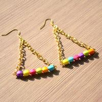 A New Way to Make Earrings - DIY Triangle Earrings