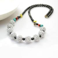 15-Minute Beaded Necklace Tutorial - Make Easy Black and White Beaded Necklace