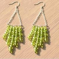 Easy Tutorial on Making Green Chandelier Earrings