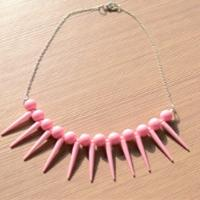 Easy Tutorial on Making Pink Fashion Necklace