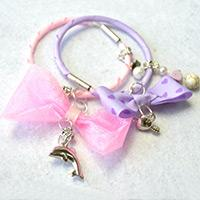 How to Make Cute Ribbon Bow Bangles with Charms for Young Girls