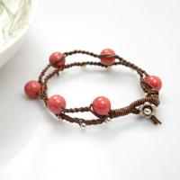 How to Make a Multi Strand Leather and Bead Bracelet for Fall Seasons
