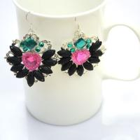 Recycle Earrings Idea - Make Rhinestone Cluster Earrings with Old Brooch Finding