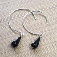 Easy Step to Make Glass Drop Earrings