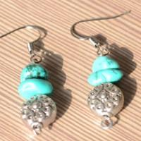 Easy Steps to Make Turquoise Hook Earrings