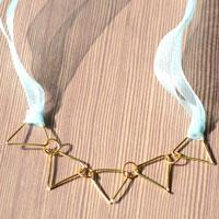 Wire Jewelry Project- Making Your Own Golden Triangle Necklace