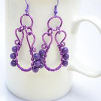Purple Vase Wire Wrapped Earring Tutorial For Aquarians