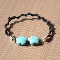 How to Make a Braided Bracelet with Turquoise Beads