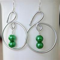 Easy Tutorial on Making Swirl Hoop Earrings
