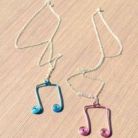 Wire Jewelry Ideas- How to Make a Cute Music Note Necklace