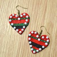 DIY Lovely Felt Heart Shaped Earrings with Beads