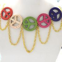How to Make a Big Peace Sign Necklace with Turquoise Beads (with pictures)