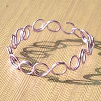 Wire Jewelry Ideas- How to Make Bangle Bracelets with Purple Wire