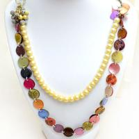 How to Make a Long Necklace with Mother of Pearl and Shell Beads
