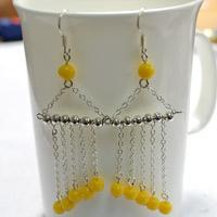 Easy Tutorial on Making Long Curtain Dangle Earrings for Women