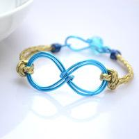 How to Make Leather Bracelet with Infinity Wire Charm - Cool Leather Bracelet Tutorial