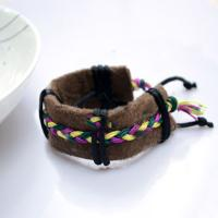 Making Combination Friendship Bracelets of Leather and Threads for Women