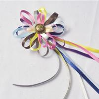 How to Make Colorful Ribbon Hair Clips for Little Girl
