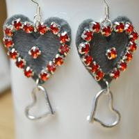Make Your Own Cutest Felt Heart Dangling Earrings with Beads