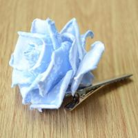 Learn to Make a Fabulous Blue Rose Flower Hair Clip out of Fabric