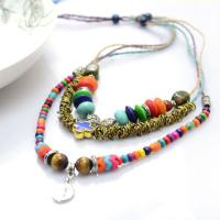 How to Make a Layered Adjustable Hemp Necklace with Assorted Beads