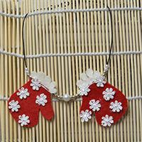 Christmas Jewelry Ideas - Making a Gloves Pendant Necklace with Beads