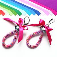 How to Make Funky Garland Loop Earrings – Candy-Colored Loop Earring Idea