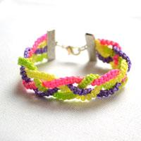 How to Make a Braided Friendship Bracelet with Brightly Colored Strings