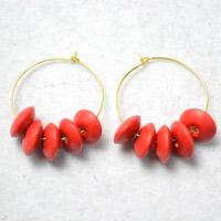 DIY Fashion Earrings Tutorial- How to Make Red Bead Earrings