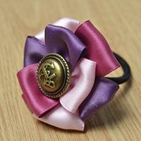 Comment Faire Une Cravate De Cheveux De Fleur Elastique En Ruban De La Façon Simple