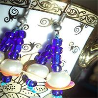 Easy Tutorial on Making Blue Dangling Earrings with Glass Seed Beads