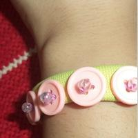 Tutorial on Making a Lovely Button Bracelet for Girls with Recycled Fabric