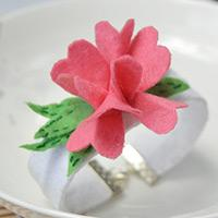 Fast-to-Learn Tutorial on Making a Pink Flower Cuff Bracelet Within 15 Minutes