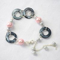 Make Your Own Charm Bracelet with Pearl Beads and Shell Beads