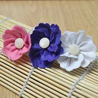 Easy Hair Accessories Ideas on Making a Triple Flowers Hair Clip
