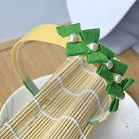 How to Make a Headband with Lovely Green Bows in Fresh Style